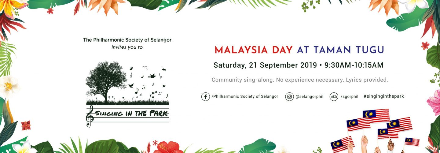 Singing in the Park Malaysia Day
